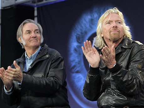 SpaceShipTwo, Richard Branson und Burt Rutan, AP
