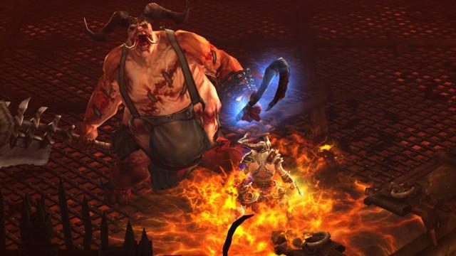 """PC-Rollenspiel """"Diablo 3"""" im Test: Ein Barbar trotzt in Diablo 3 den Flammen der Hölle."""