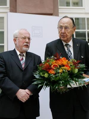Lothar de Maizière, Hans-Dietrich Genscher, dpa