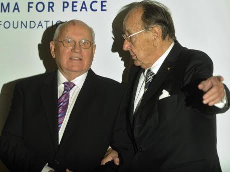 Michail Gorbatschow, Hans-Dietrich Genscher, ddp
