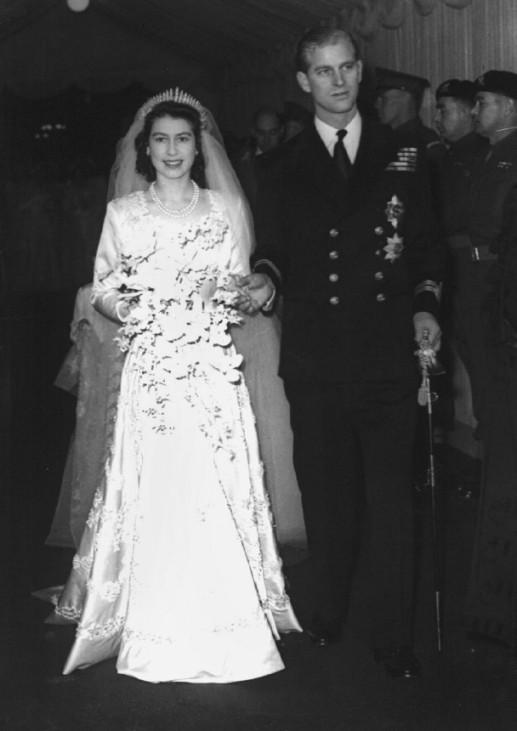 Hochzeit von Königin Elisabeth II. und Prinz Philip am 20.11.1947