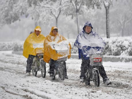 Schnee in China;Reuters