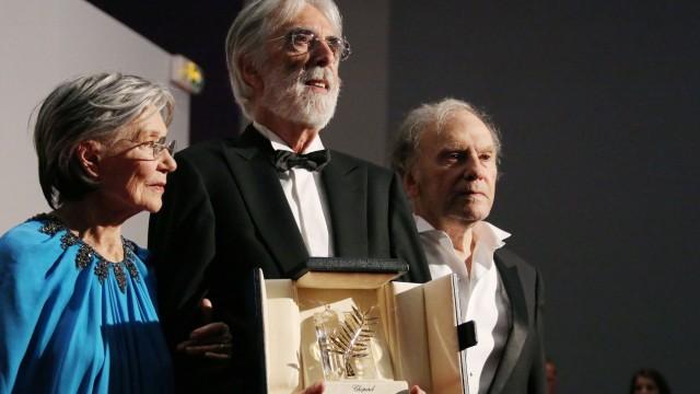 Regisseur Haneke mit der Goldenen Palme