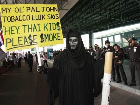 Anti-Raucher-Demo in Bangkok;AP