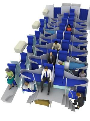 Flugzeug Flugzeuge Flugzeugsitz Passagiere neues Design für Sitze