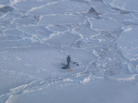 17-Jähriger verbringt Nacht mit Eisbären auf Eisscholle;AP