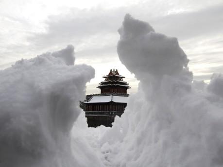 Verbotene Stadt versinkt im Schnee;Reuters