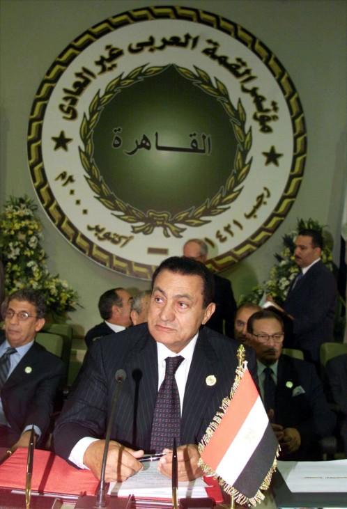 Hosni Mubarak bei der Eröffnung des Treffens der Arabischen Liga in Kairo
