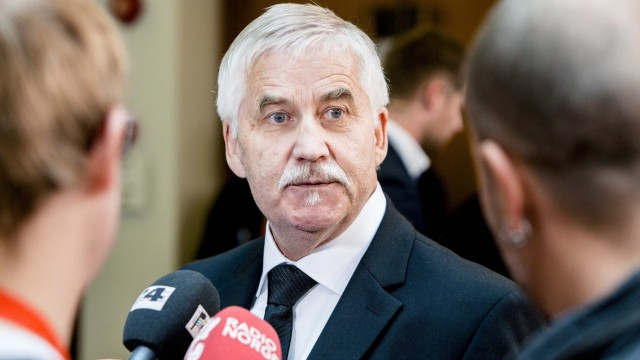 Tvedt, founder of right-wing organisation Vigrid, speaks during the ongoing court case against Breivik in Oslo