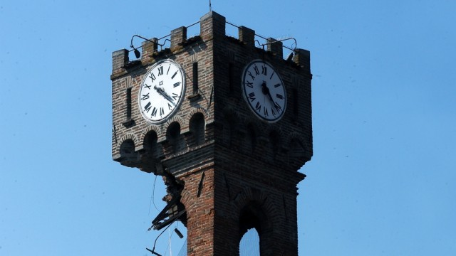 Novi di Modena in Norditalien nach den Erdbeben