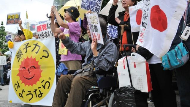 Atomkraft: Proteste in Tokio: Seit der Katastrophe von Fukushima wächst in Japan die Ablehnung gegenüber Atomkraft.