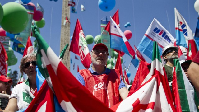 Italian workers protest government's austerity measures