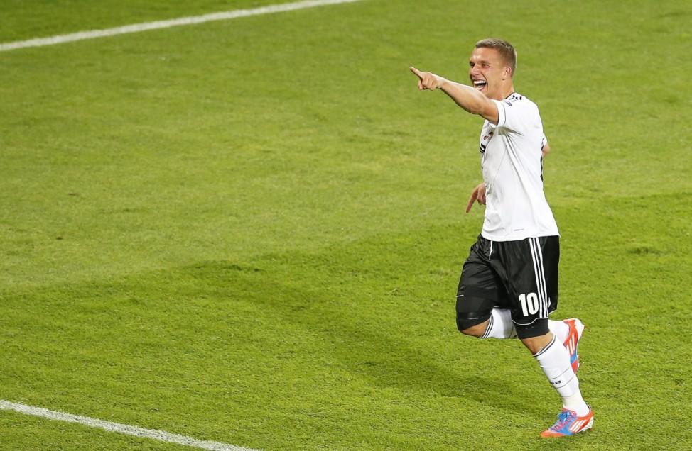EURO 2012 EM Europameisterschaft Dänemark - Deutschland Podolski