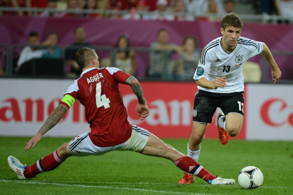EURO 2012 EM Europameisterschaft Dänemark - Deutschland Müller