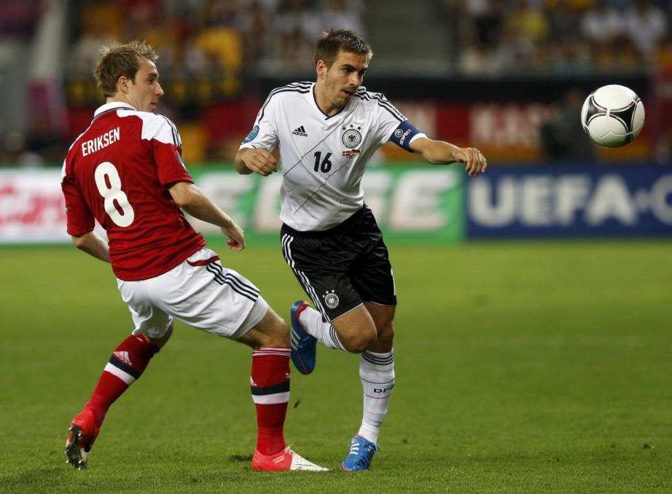 EURO 2012 EM Europameisterschaft Dänemark - Deutschland Lahm