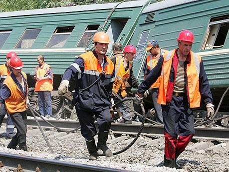 Bombenanschlag Zug Russland, dpa