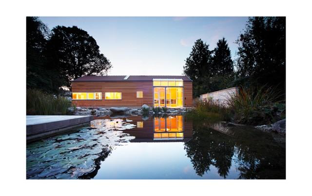 Architektouren 2012, Saunahaus, Schwimmteich, Deisenhofen