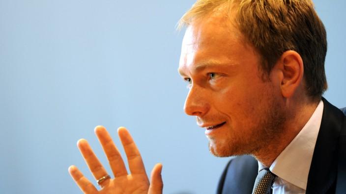 Christian Lindner, FDP-Chef an Rhein und Ruhr Betreuungsgeld