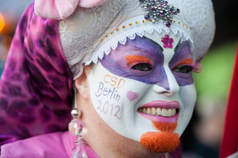 Berliner Parade zum 'Christopher Street Day'