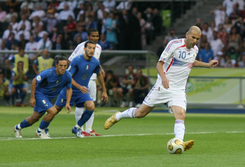 France's Zidane scores a penalty against Italy during their World Cup 2006 final soccer match in Berlin