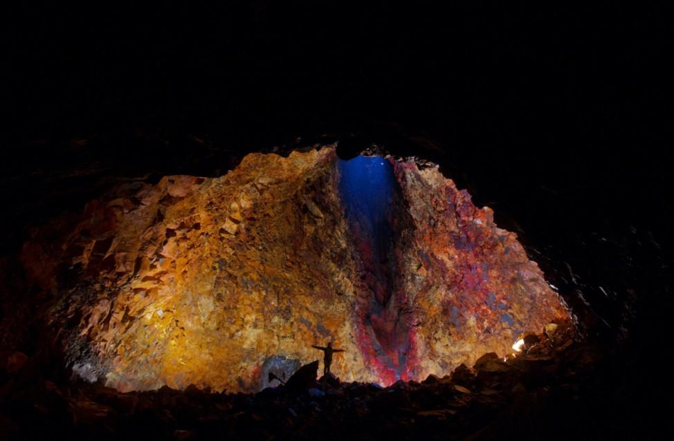 Island Vulkan Magma Krater