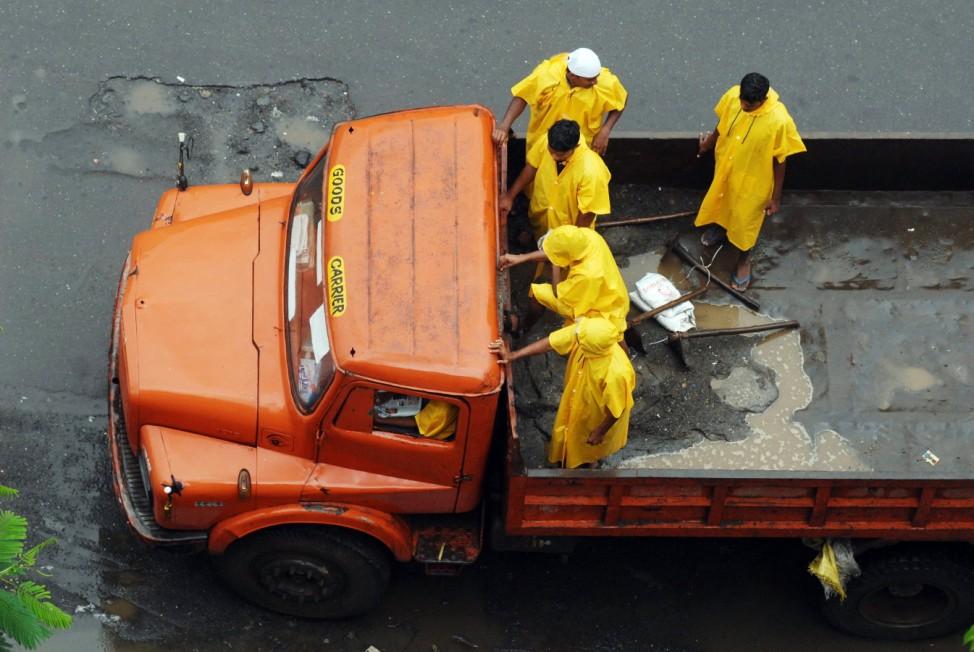 Monsoon rain in Mumbai