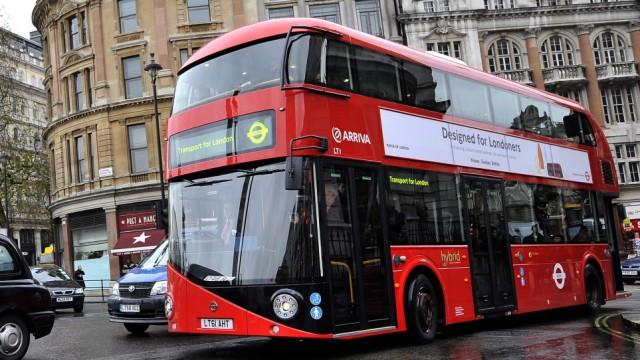 Neuer Doppeldeckerbus in London