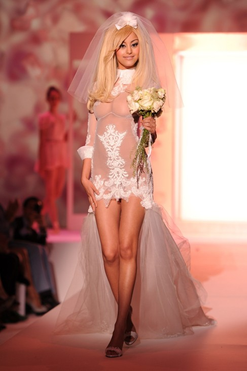 Zahia Dehar Lingerie 'Couture': Runway - Paris Fashion Week Haute Couture F/W 2013