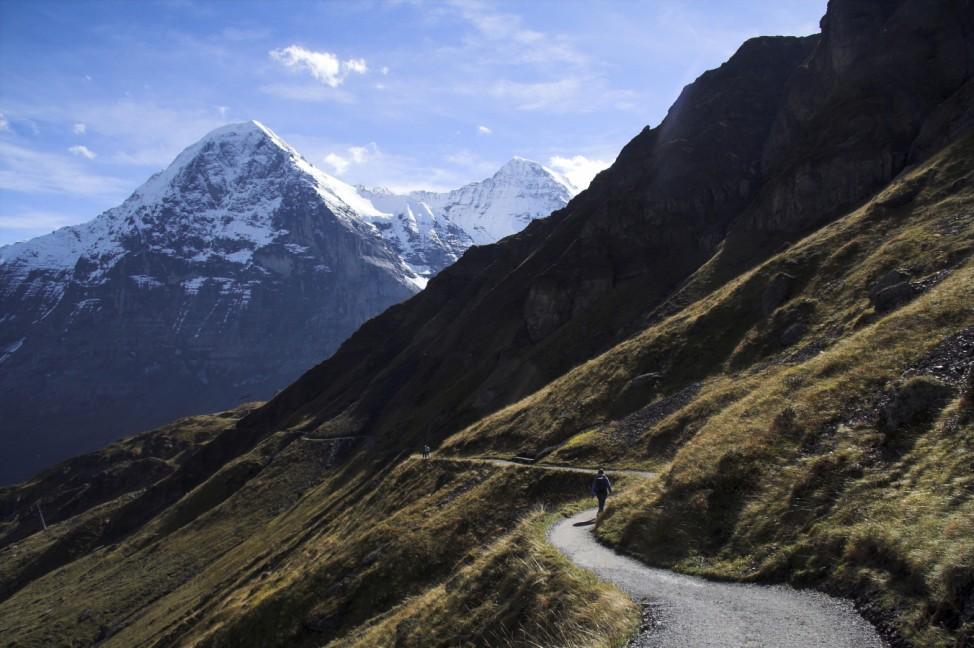 Weg Vom First in Richtung Kleine Scheidegg