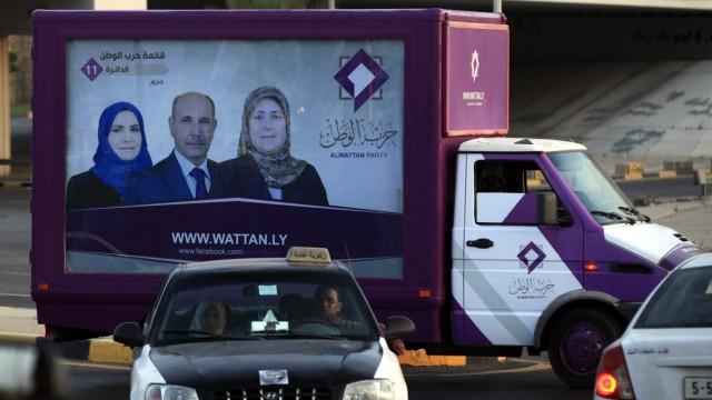 El Watan Party elections rally in Tripoli