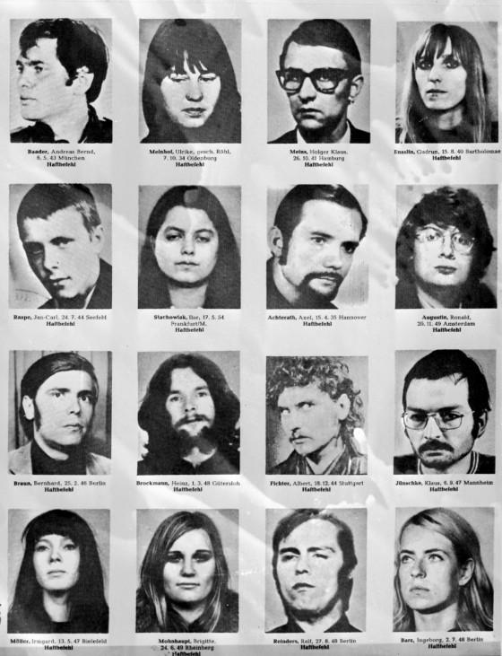 FAHNDUNGSFOTOS DER BAADER-MEINHOF-GRUPPE, 1972