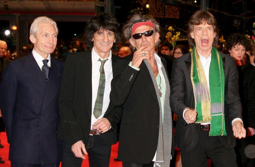 Britische Kultband 'The Rolling Stones'
