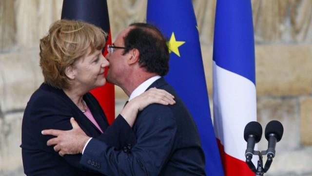 Angela Merkel und Francois Hollande in Reims