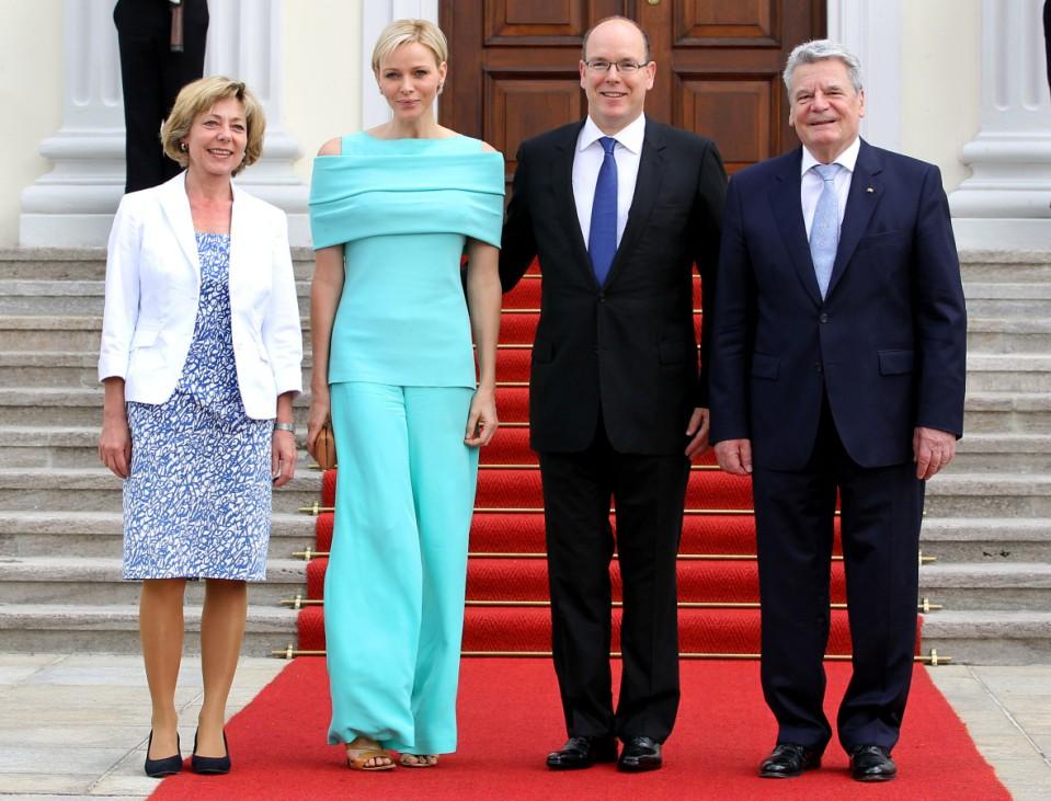 Albert II. von Monaco und Charlene in Berlin