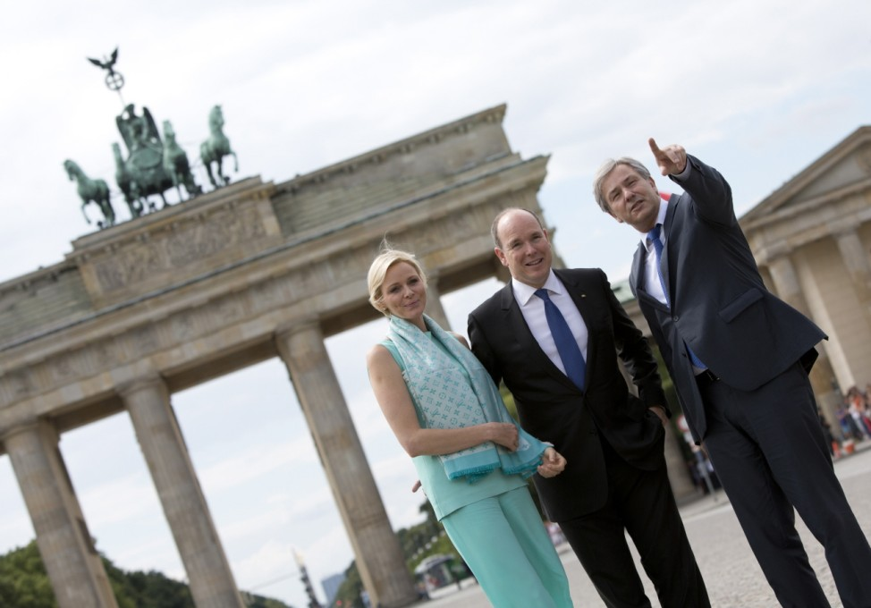 Prince Albert II of Monaco, Princess Charlene of Monaco, Klaus Wowereit