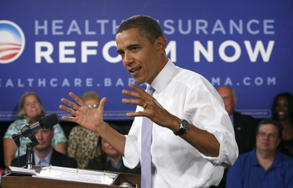 Obama speaks about healthcare reform in Washington