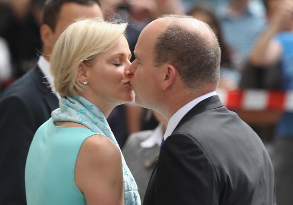 Prince Albert II of Monaco and Princess Charlene Visit Brandenburg Gate