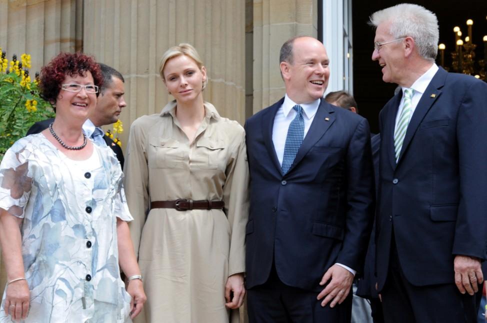 Fürst Albert II. von Monaco und Charlene in Stuttgart