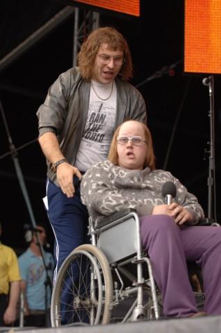Little Britain Darsteller David Williams und Matt Lucas während dem Live 8