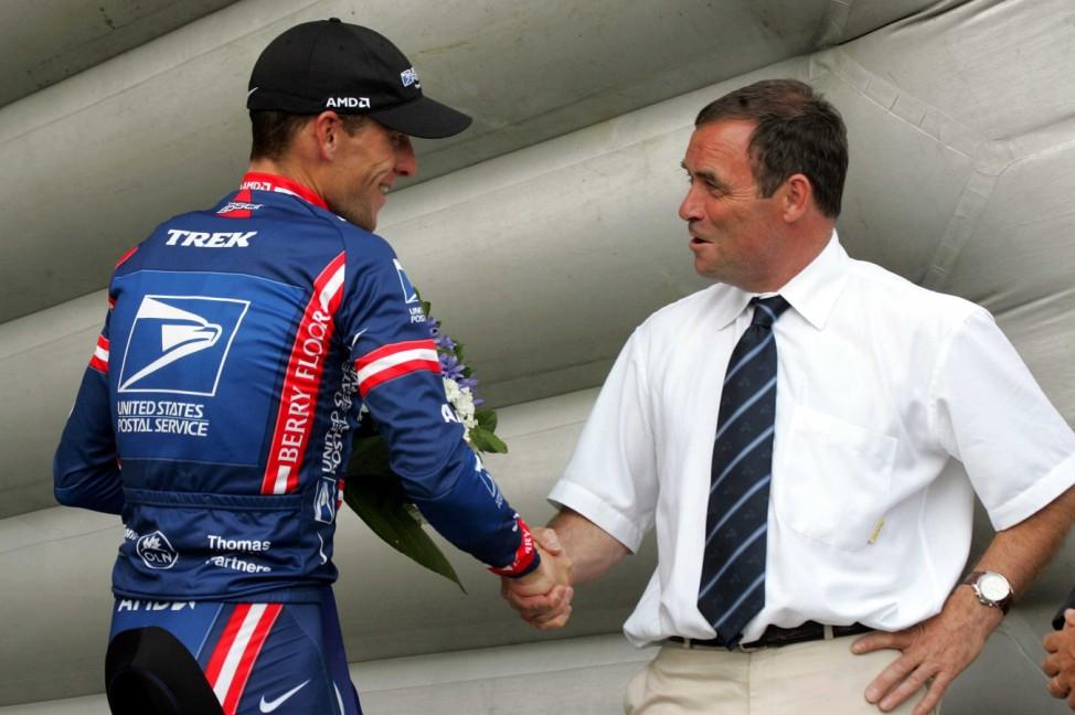 Tour de France - 13. Etappe Armstrong Hinault