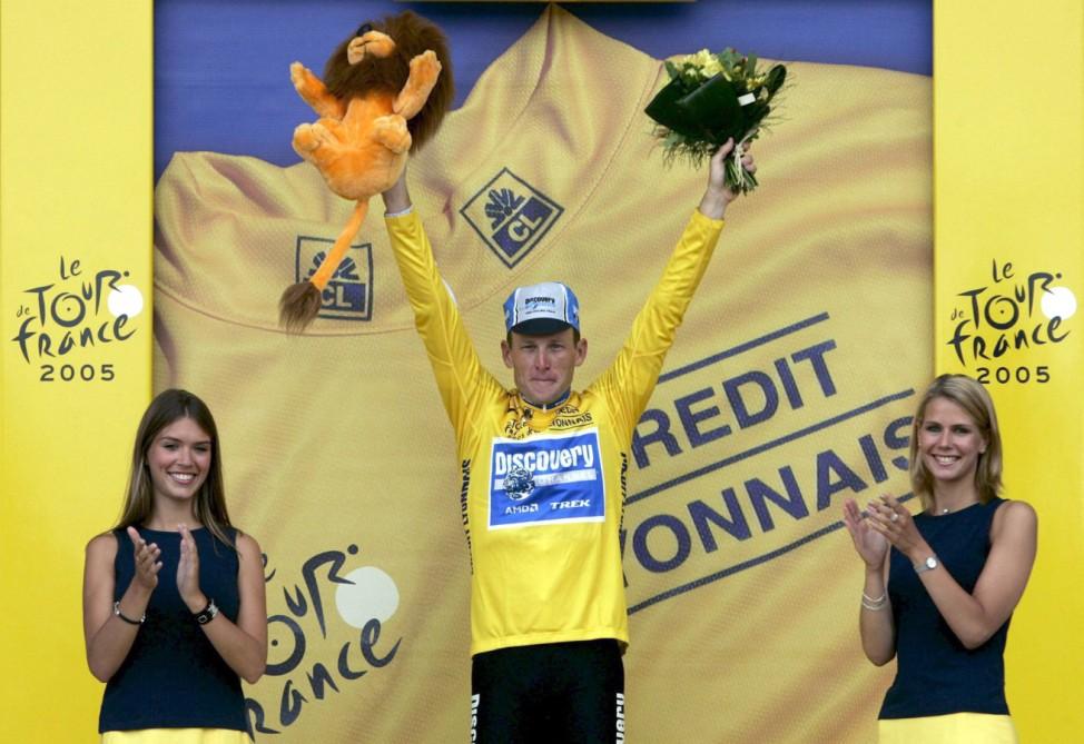 Tour de France - Armstrong im gelben Trikot