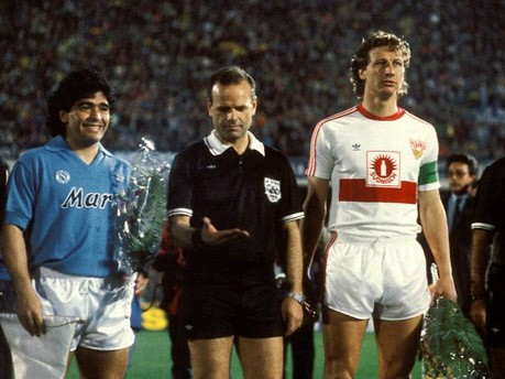 Gerassimos Germanakos, Diego Armando Maradona und Guido Buchwald