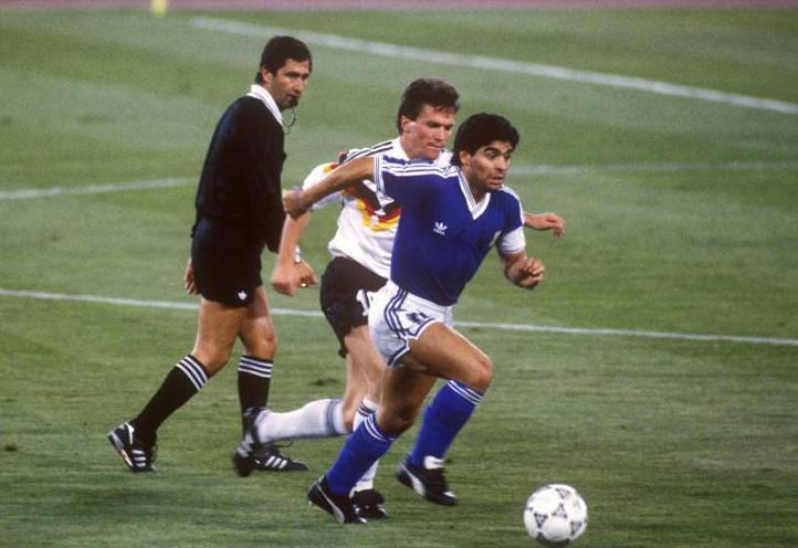 Diego Armando Maradona gegen Lothar Matthäus