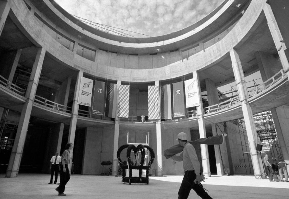 Rohbau der Pinakothek der Moderne in München