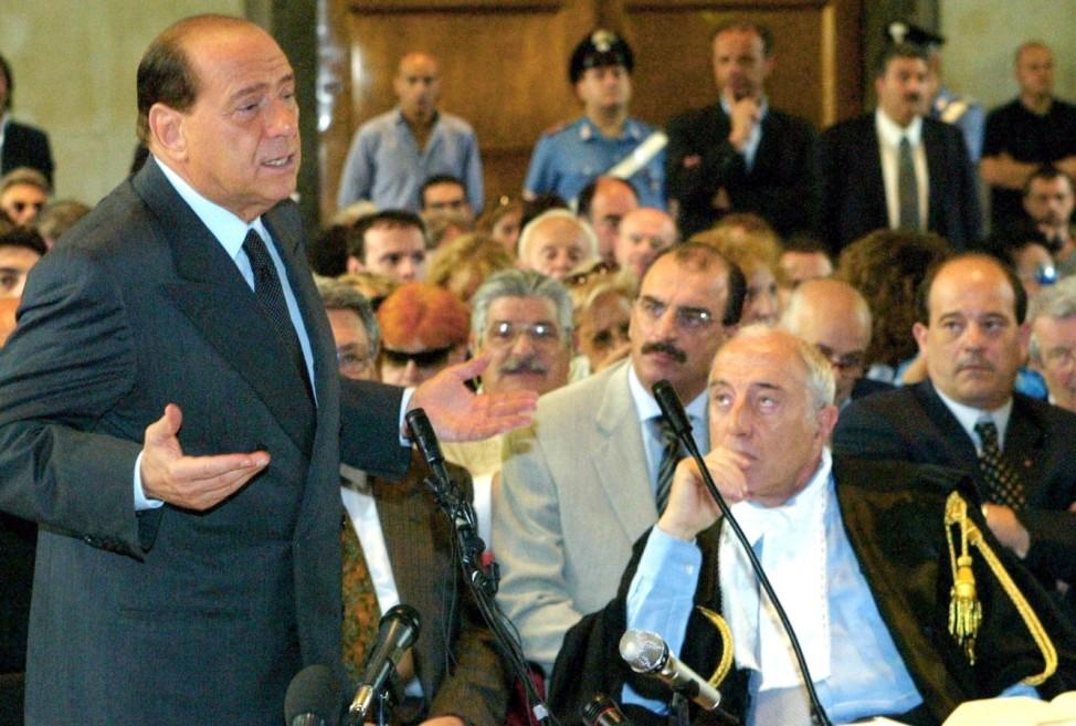 Silvio Berlusconi vor Gericht, 2003