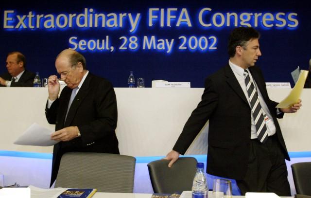 FILE PHOTO OF FIFA PRESIDENT BLATTER AND SECRETARY GENERAL ZEN-RUFFINEN IN SEOUL