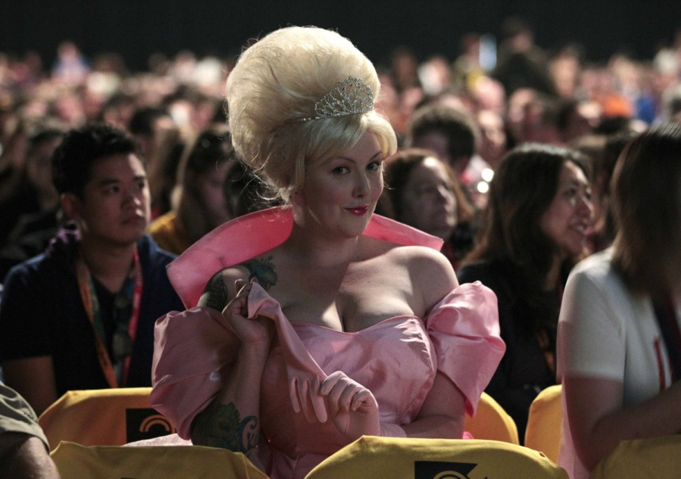 Attendee dressed as character Charlotte La Bouff is seen during Comic-Con convention in San Diego