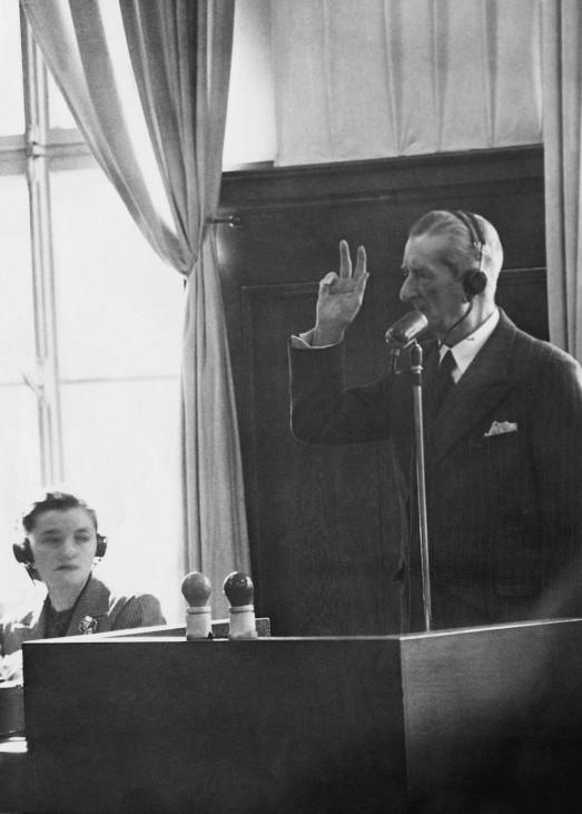 Nikolaus Horthy als Zeuge in Nürnberg, DENA-Bild SZ-Photo