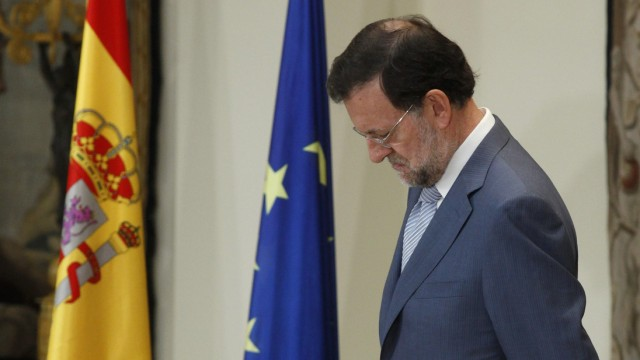 Spain's Prime Minister Rajoy attends the naming of the High Commissioner for the Spain brand at Moncloa palace in Madrid