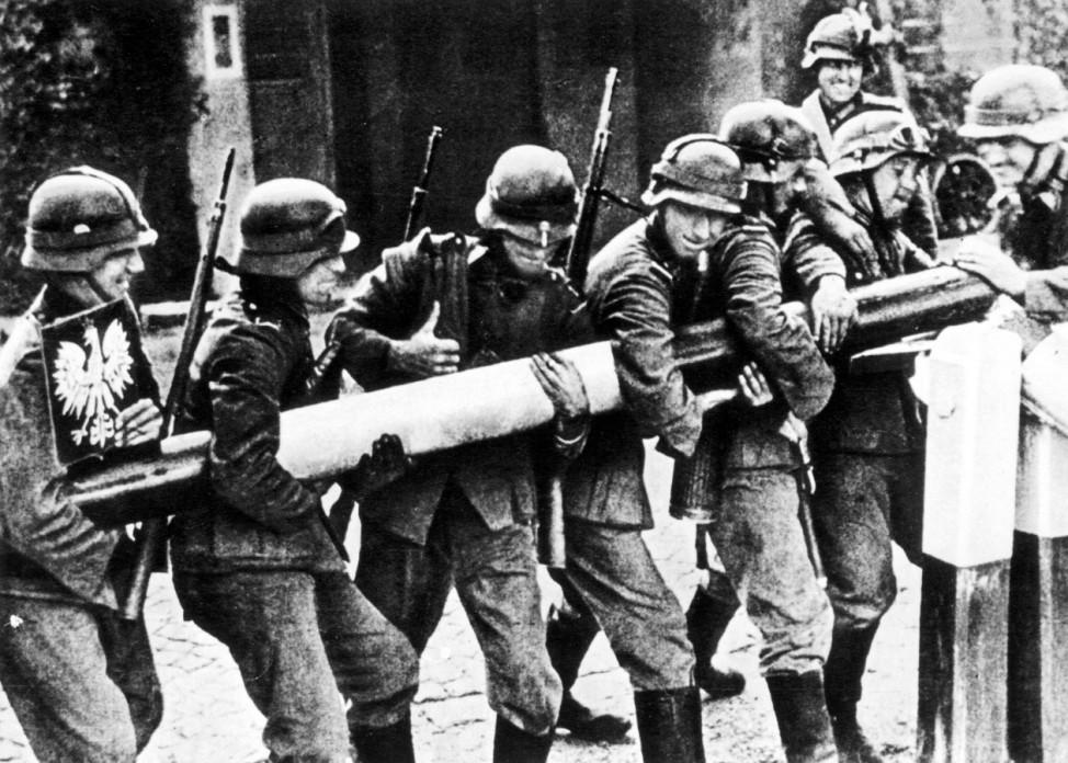 Deutsche Soldaten an der Grenze zu Polen, 1939